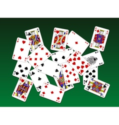Playing cards on deck vector image vector image