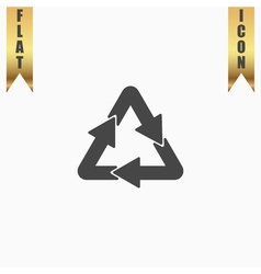 Recycle sign isolated on background vector image