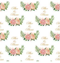 vintage wedding pattern vector image vector image