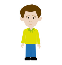 colorful picture man dressed casual style vector image