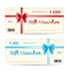 Elegant gift voucher or gift card template vector image