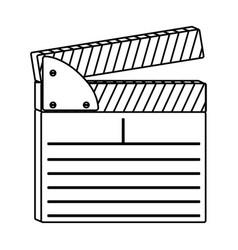 figure clapper board icon vector image