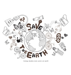 Green world drawing concept vector image
