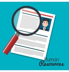 human resources search choose curriculum male vector image