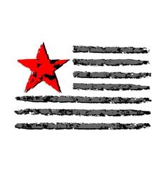 American flag grunge celebration independence day vector