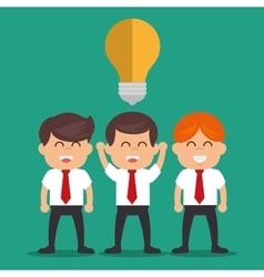 business people idea success plan design vector image
