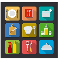 Cooking icon flat vector