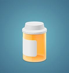 Empty plastic jar vector image vector image