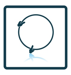 Icon of hand holding photography reflector vector image