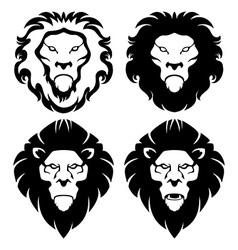 Lion Face Emblem vector image vector image