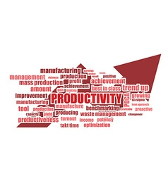 productivity related words vector image vector image