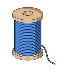 a reel of blue threadsewing or tailoring tools vector image vector image