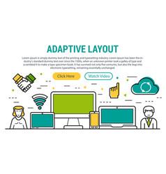 adaptive layout - rectangular site header vector image vector image