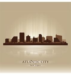 Atlantic City New Jersey skyline city silhouette vector image vector image