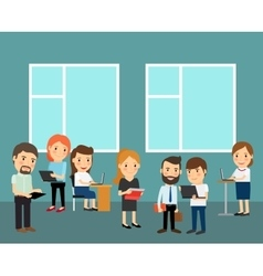 Big office cartoon vector image