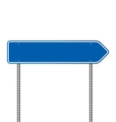 Blue Directional Road Sign vector image