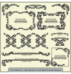 Calligraphic design elements and page vector image vector image