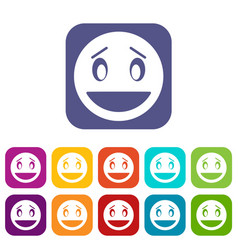 confused emoticons set vector image vector image