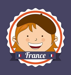 france kid vector image vector image