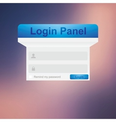 login background vector image