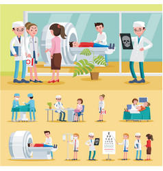 medical care composition vector image