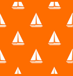 sea yacht pattern seamless vector image vector image