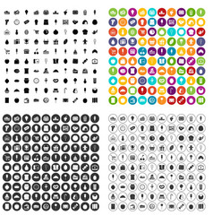 100 candy shop icons set variant vector