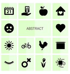 14 abstract icons vector