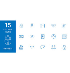 15 system icons vector