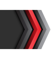 Abstract red black grey arrow 3d direction vector