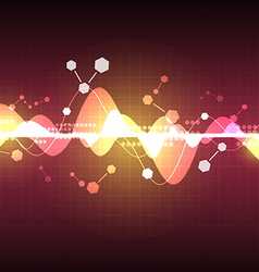 Abstract wave science element background vector