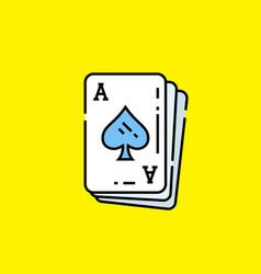 ace spades card icon vector image