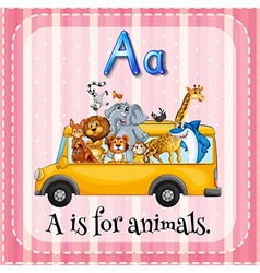Alphabet A is for animals vector image