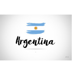 Argentina country flag concept with grunge design vector