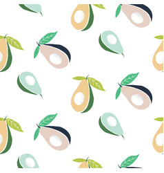 Avocado cute seamless pattern for textile print vector