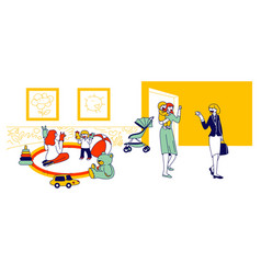 babysitter and nanny occupation concept nursery vector image