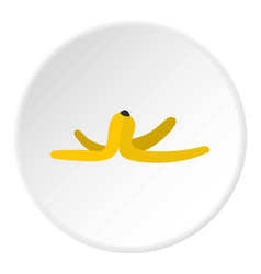 Banana skin icon circle vector