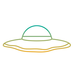beach hat fashion trendy accesory icon vector image