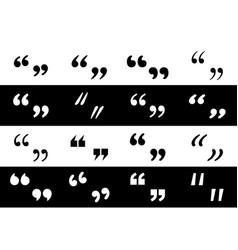 Big set black different quotation marks quotation vector