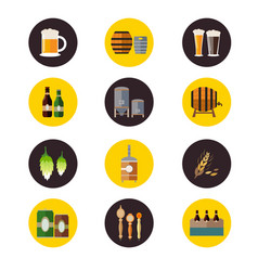 brewery icons vector image
