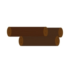 brown wooden logs graphic vector image