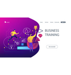 business coaching concept vector image