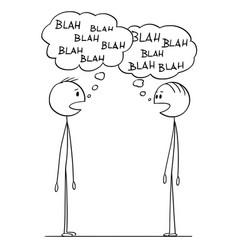 Cartoon of two men conversation with blah-blah vector