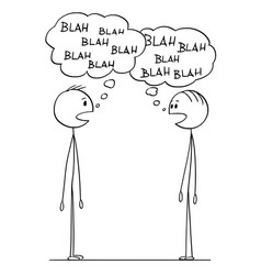 Cartoon two men conversation with blah-blah vector