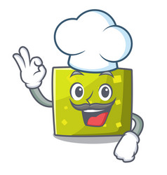chef square character cartoon style vector image