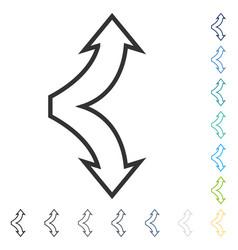 Choice arrows up down icon vector