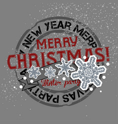 christmas and new years background with greeting vector image