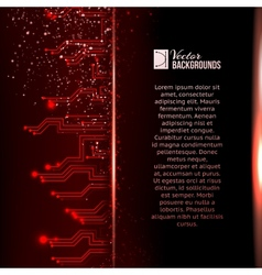 Circuit background with light effect vector