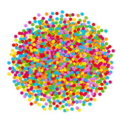 Confetti ball vector