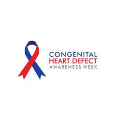Congenital heart defect awareness week vector